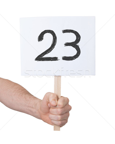 Sign with a number, 23 Stock photo © michaklootwijk