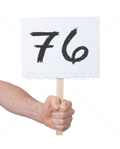 Sign with a number, 76 Stock photo © michaklootwijk