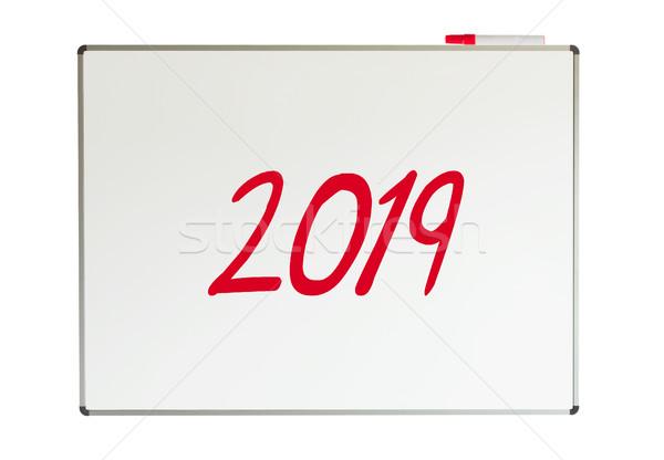 2019, message on whiteboard Stock photo © michaklootwijk