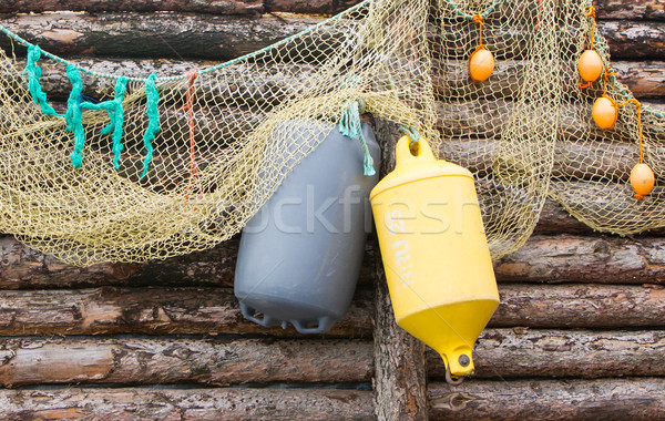 Inflatable fenders and netting  Stock photo © michaklootwijk