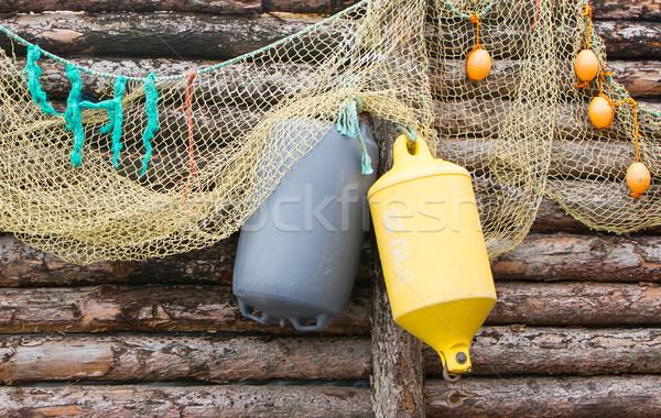 şişme asılı ahşap duvar deniz seyahat Stok fotoğraf © michaklootwijk