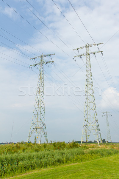 Power Transmission towers Stock photo © michaklootwijk