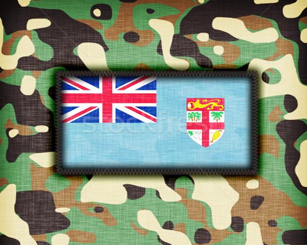 álca egyenruha Fidzsi-szigetek zászló textúra absztrakt Stock fotó © michaklootwijk