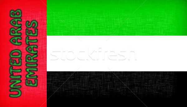 Flag of the UAE stitched with letters Stock photo © michaklootwijk