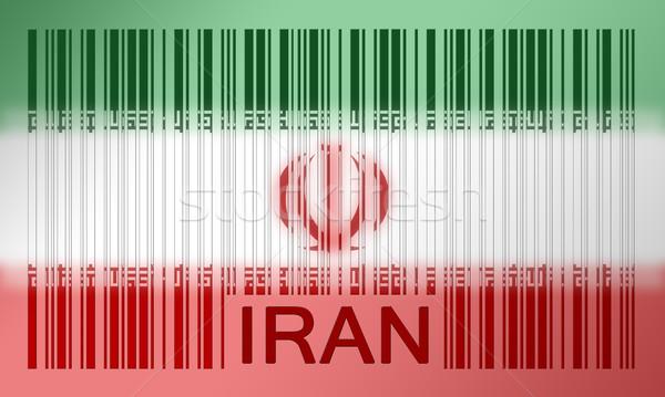 штрих флаг Иран окрашенный поверхность аннотация Сток-фото © michaklootwijk