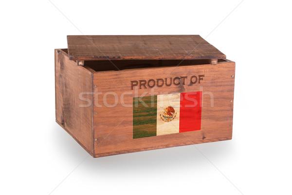 Ahşap yalıtılmış beyaz ürün Meksika Stok fotoğraf © michaklootwijk