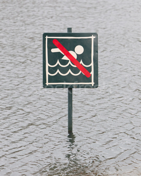 Caution No Swimming allowed Stock photo © michaklootwijk