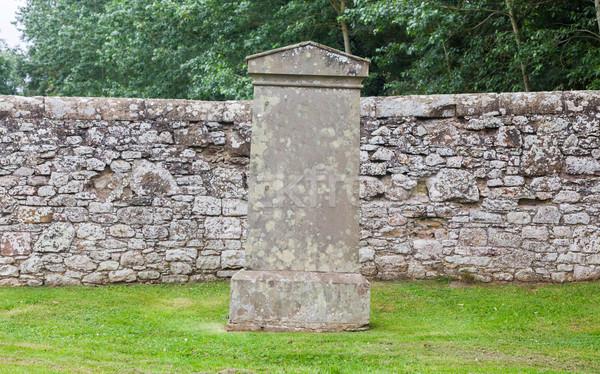 古い 墓石 墓地 スコットランド 草 背景 ストックフォト © michaklootwijk