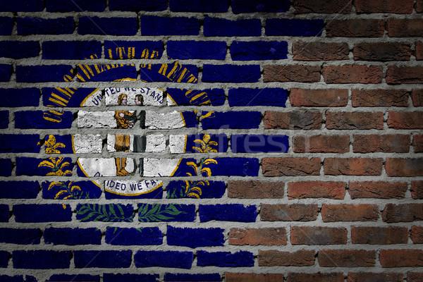 Dark brick wall - Kentucky Stock photo © michaklootwijk