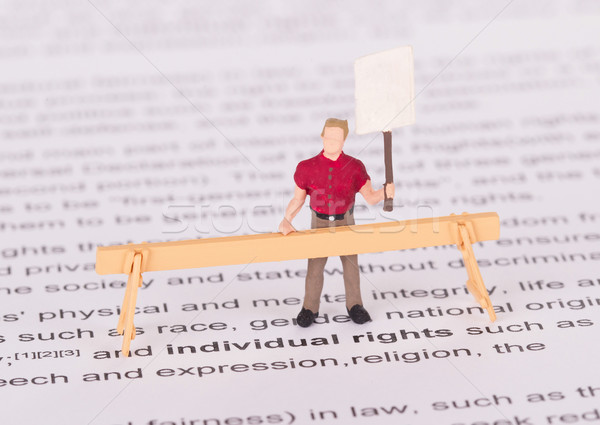 Pessoa direitos vazio assinar zangado Foto stock © michaklootwijk