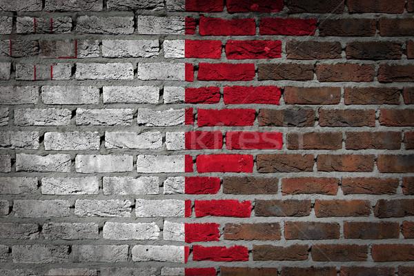 Mur de briques texture pavillon vieux sombre rouge Photo stock © michaklootwijk
