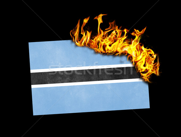 Flag burning - Botswana Stock photo © michaklootwijk