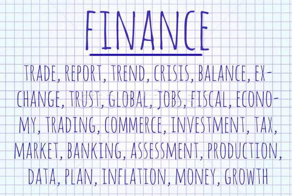Finance word cloud Stock photo © michaklootwijk