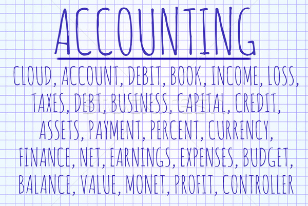 Accounting word cloud Stock photo © michaklootwijk