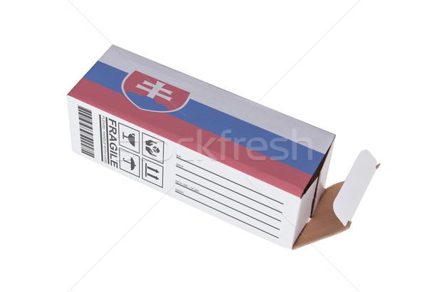 Exportar produto Eslováquia papel caixa Foto stock © michaklootwijk