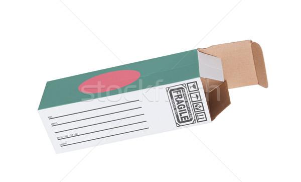Exportar produto Bangladesh papel caixa Foto stock © michaklootwijk