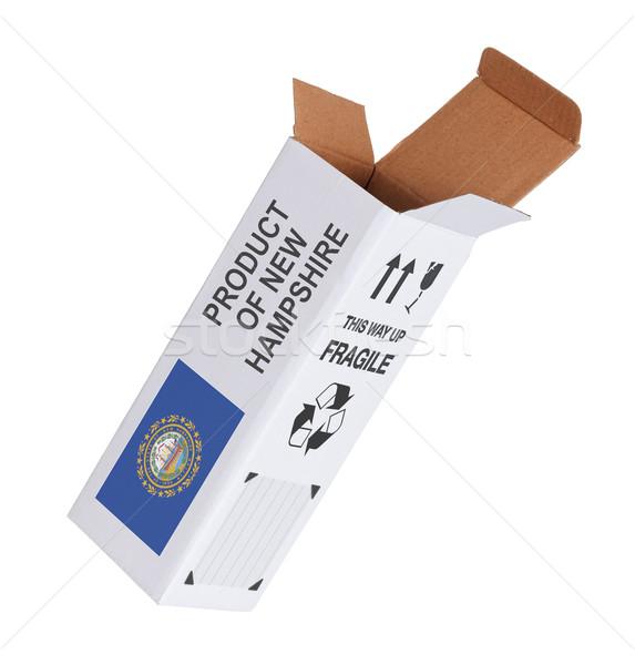 Exportar produto New Hampshire papel caixa Foto stock © michaklootwijk