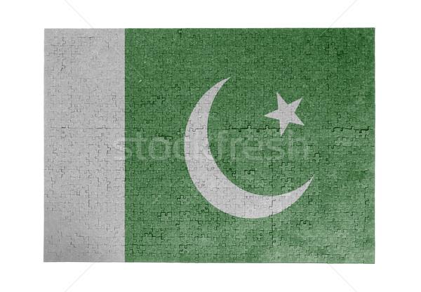Büyük 1000 parçalar Pakistan bayrak Stok fotoğraf © michaklootwijk