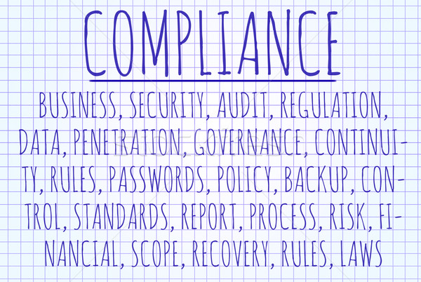 Compliance word cloud Stock photo © michaklootwijk