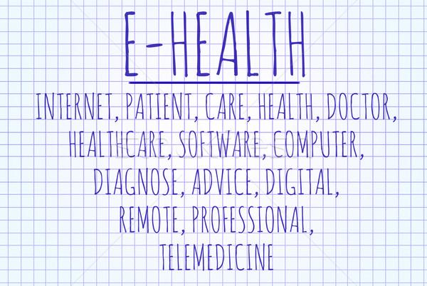 E-health word cloud Stock photo © michaklootwijk