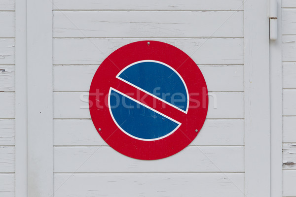 Road sign, prohibitory sign - No parking Stock photo © michaklootwijk