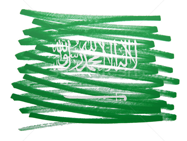 フラグ 実例 サウジアラビア ペン ビジネス 塗料 ストックフォト © michaklootwijk