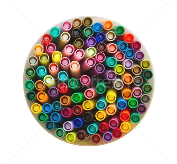 Collection of various felt tip pens Stock photo © michaklootwijk