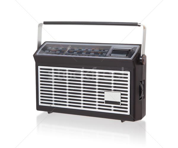 Hordozható rádió izolált fehér zene technológia Stock fotó © michaklootwijk