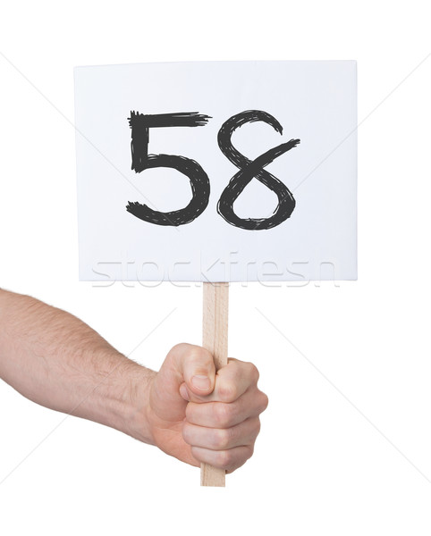 Sign with a number, 58 Stock photo © michaklootwijk