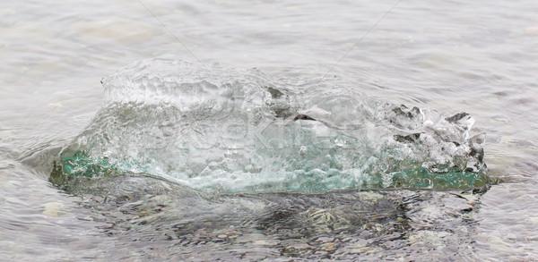 Közelkép olvad jég tó délkelet víz Stock fotó © michaklootwijk