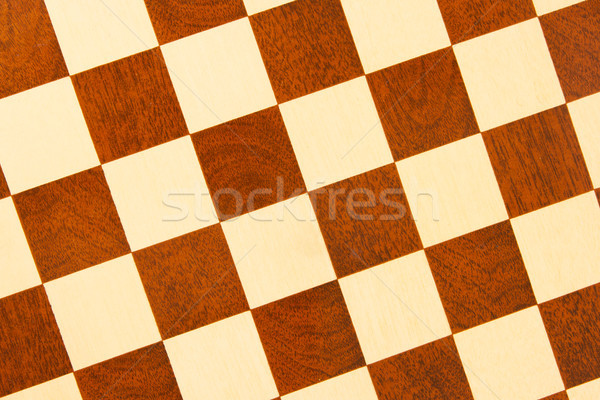 Very old wooden chess board, isolated Stock photo © michaklootwijk