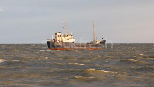 Small coastal vessel in the waters of the dutch Ijsselmeer Stock photo © michaklootwijk