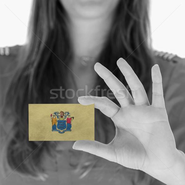 женщину визитной карточкой черно белые Нью-Джерси пространстве Сток-фото © michaklootwijk