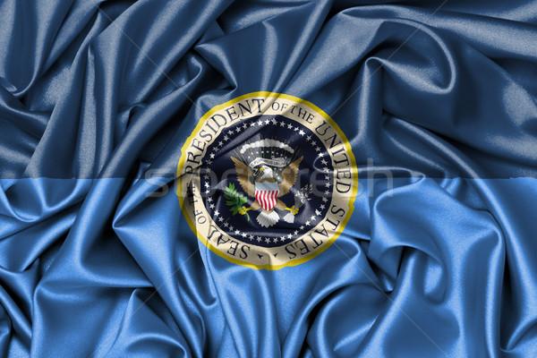 атласных флаг эмблема президентский печать дизайна Сток-фото © michaklootwijk