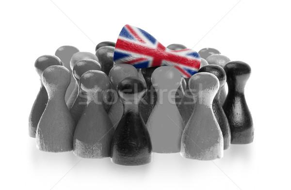 Een uniek pion top vlag familie Stockfoto © michaklootwijk