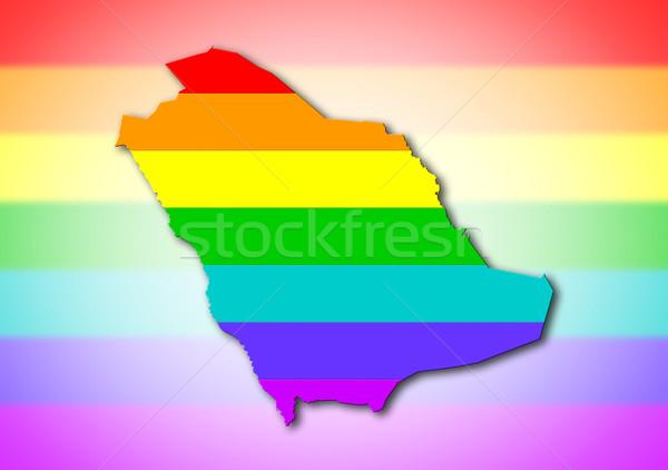 Saudi Arabia - Rainbow flag pattern Stock photo © michaklootwijk