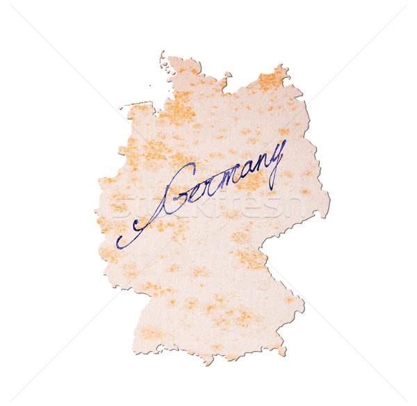 Alemanha papel velho letra azul nosso viajar Foto stock © michaklootwijk