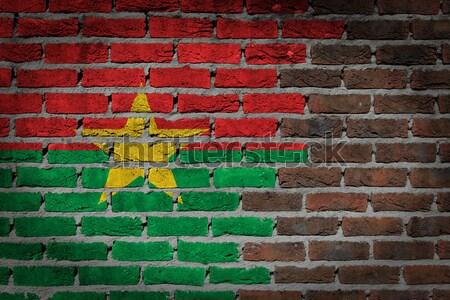 Sötét téglafal jogok Szudán textúra zászló Stock fotó © michaklootwijk