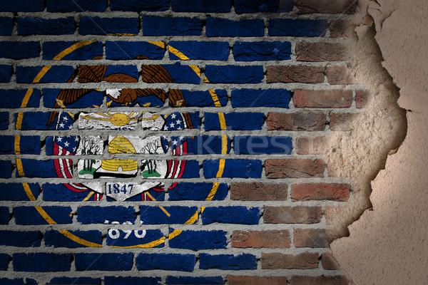 Donkere muur gips Utah textuur vlag Stockfoto © michaklootwijk