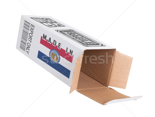 Exportar produto Missouri papel caixa Foto stock © michaklootwijk