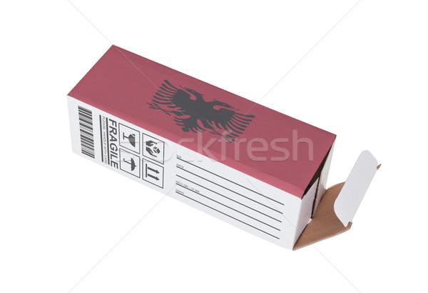 Concept of export - Product of Albania Stock photo © michaklootwijk