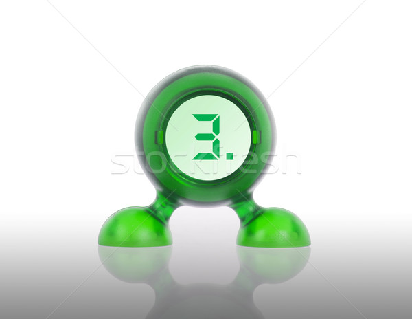 Small green plastic object with a digital display Stock photo © michaklootwijk