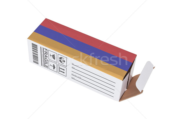 Exporter produit Arménie papier boîte Photo stock © michaklootwijk
