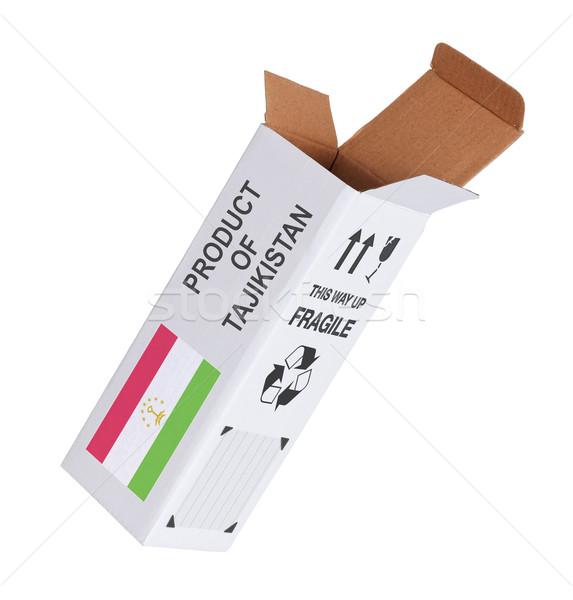 エクスポート 製品 タジキスタン 紙 ボックス ストックフォト © michaklootwijk