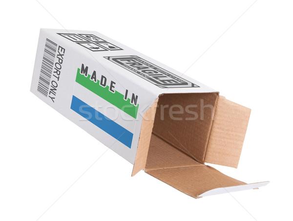 Exportar produto papel caixa negócio Foto stock © michaklootwijk