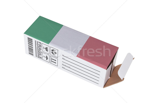 Foto stock: Exportar · produto · Itália · papel · caixa