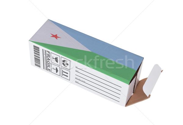 экспорт продукт Джибути бумаги окна Сток-фото © michaklootwijk