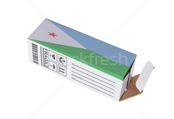 Exportar produto Djibouti papel caixa Foto stock © michaklootwijk