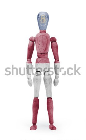 Wood figure mannequin with US state flag bodypaint - Georgia Stock photo © michaklootwijk