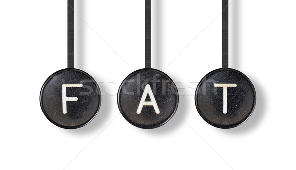 Typewriter buttons, isolated - Fat Stock photo © michaklootwijk